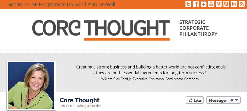 Facebook Cover Design for Core Thought