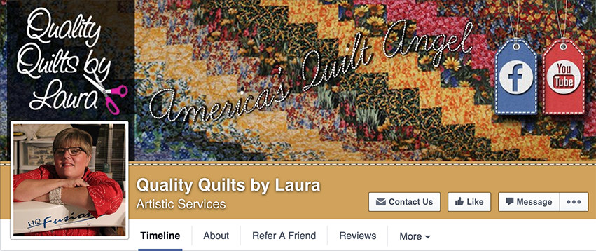 Facebook Cover Design: Quality Quilts