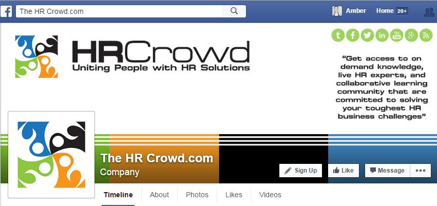 Facebook Cover Design for The HR Crowd