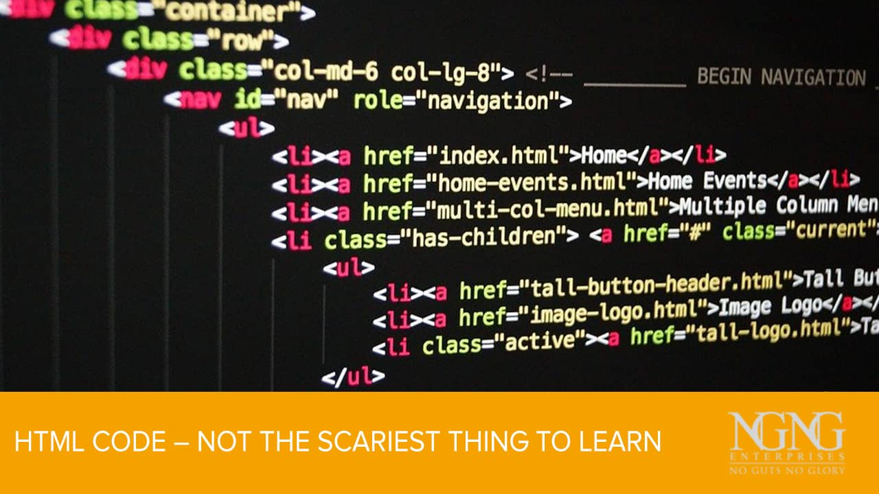 HTML Code – Not the Scariest Thing to Learn