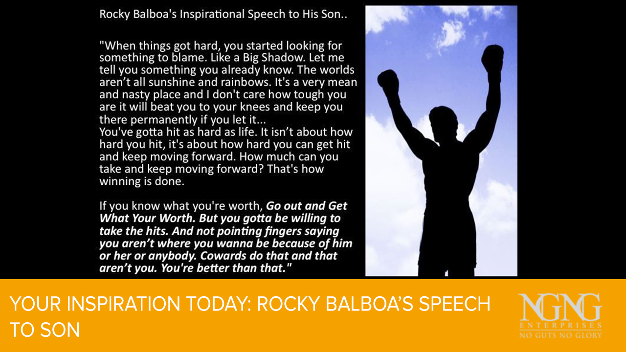 Your Inspiration Today- Rocky Balboa's Speech to Son