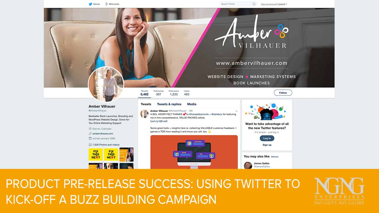 Product Pre-Release Success- Using Twitter to Kick-Off a Buzz Building Campaign