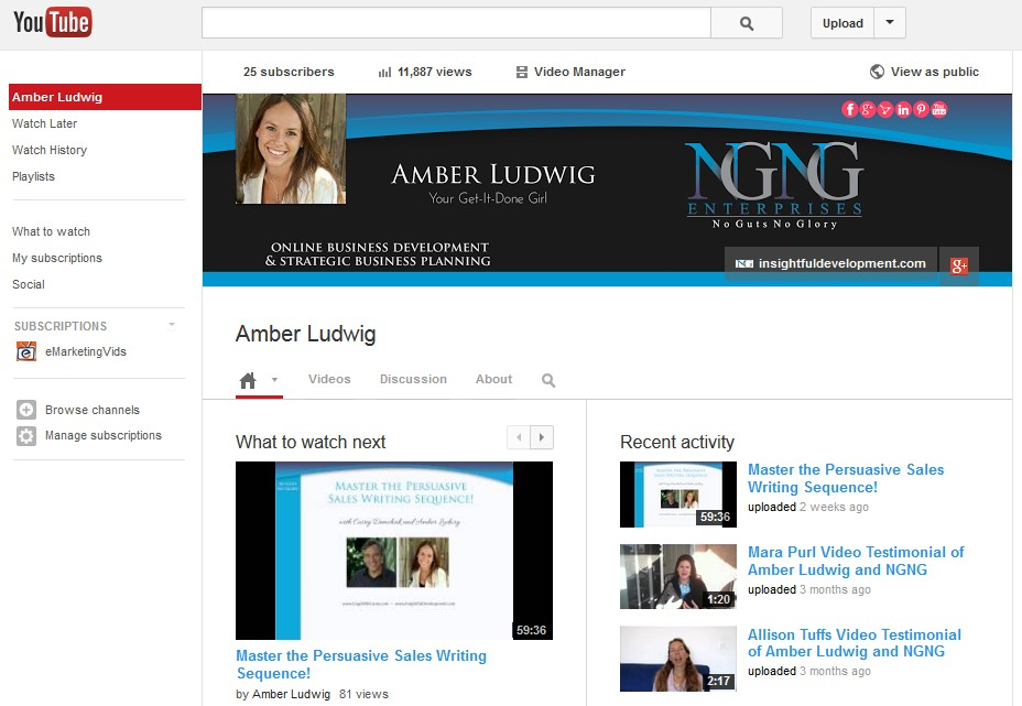 YouTube Cover Art Designed by Amber Ludwig-Vilhauer, NGNG Enterprises