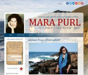 WordPress Website Design Example, Mara Purl