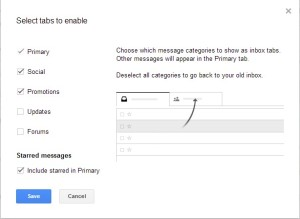 Gmail Tab Category Changes