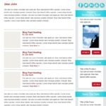 HTML Newsletter Design & Development for Email Subscriber Marketing and List-Building