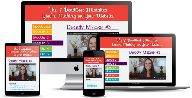 The 7 Deadliest Mistakes You're Making on Your Website Video Series by Amber Ludwig-Vilhauer