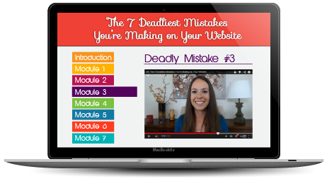 The 7 Deadliest Mistakes You're Making on Your Website Video Training by Amber Ludwig-Vilhauer