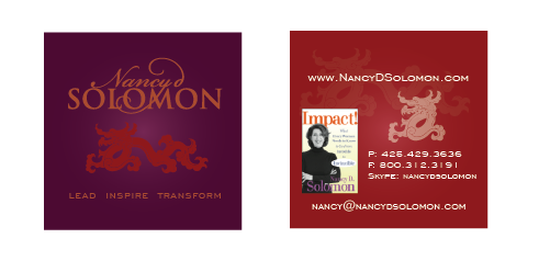 Business Cards Design for Nancy Solomon