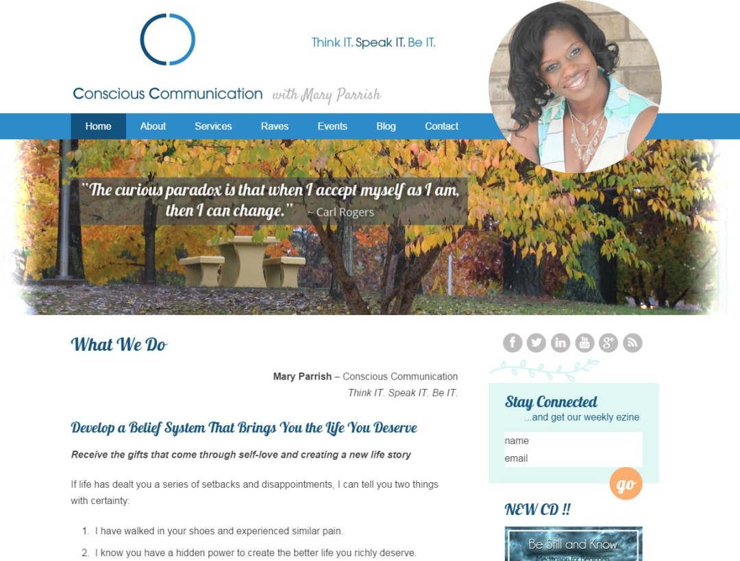 Custom Designed Wordpress Website for Mary Parrish