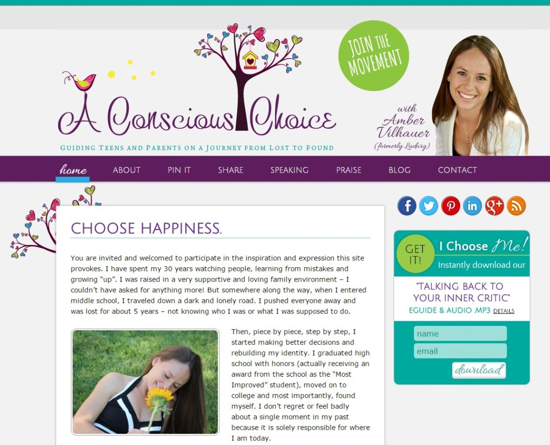 Custom Designed Wordpress Website for A Conscious Choice