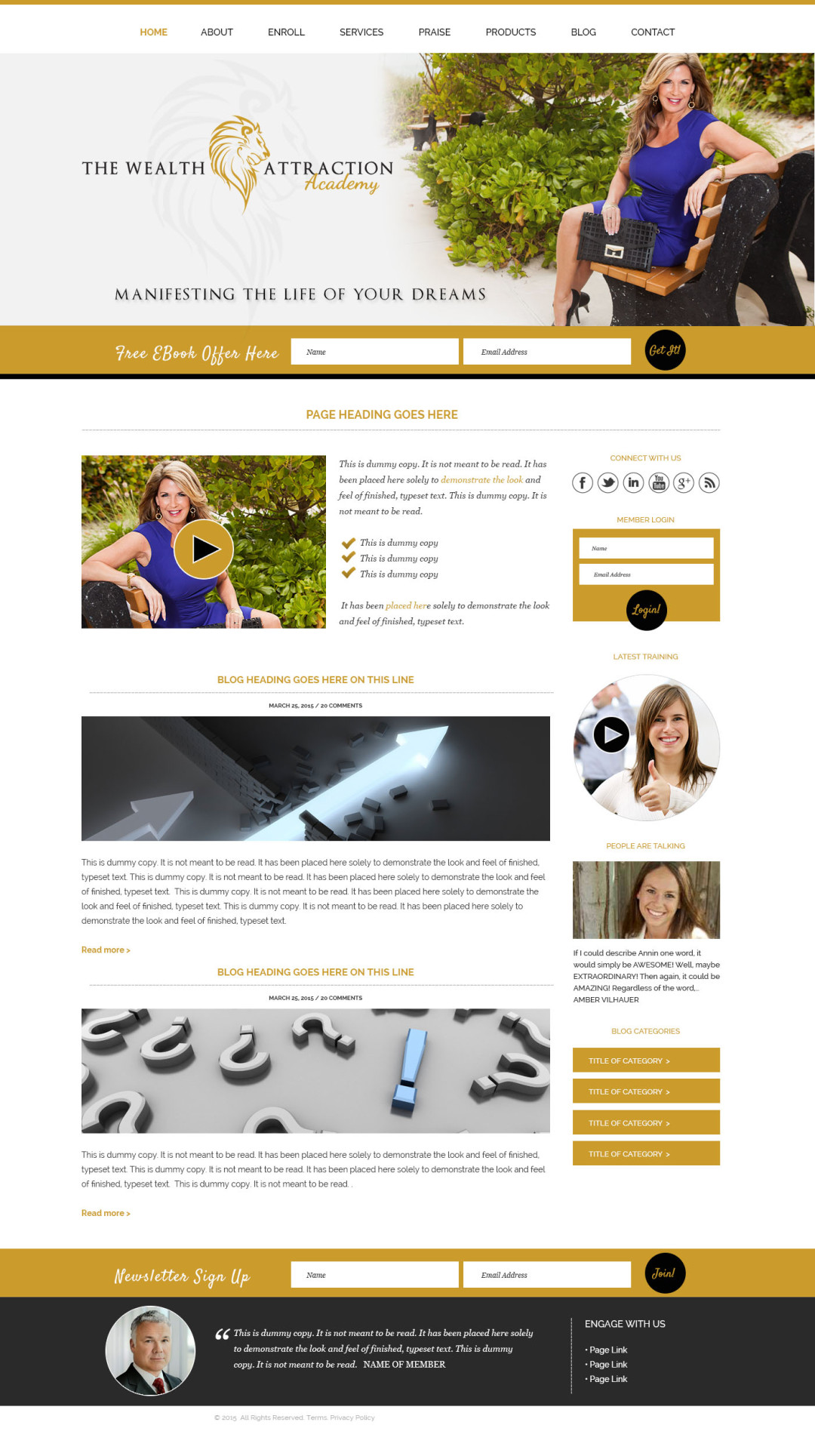 Custom Designed Wordpress Website for Ann Sanfelippo