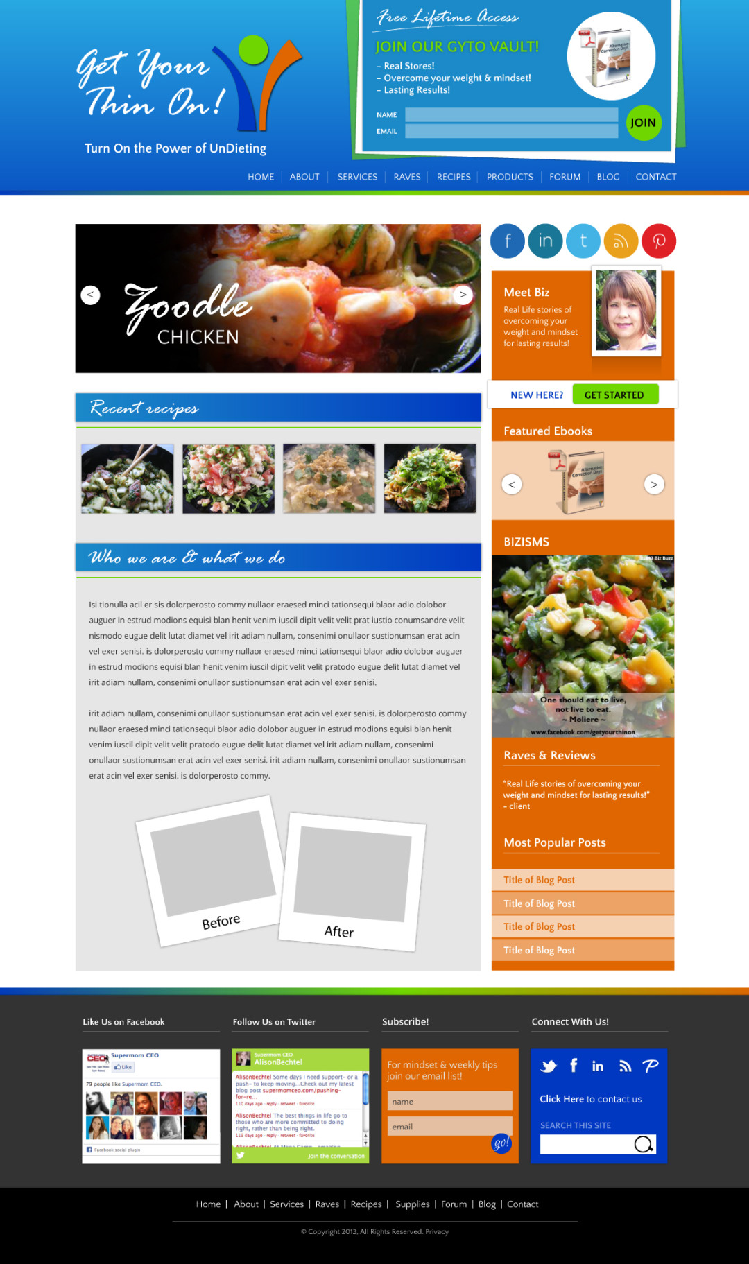 Custom Designed Wordpress Website for Biz Buzz