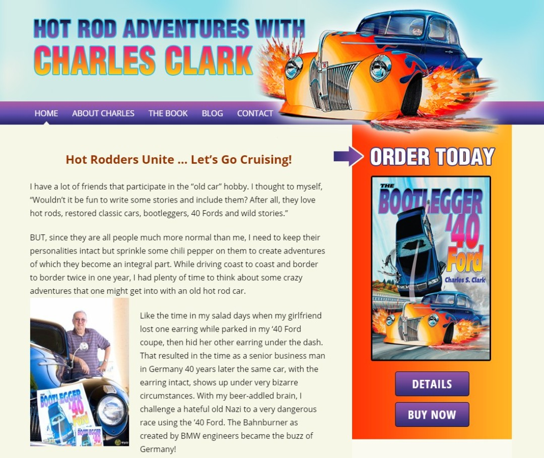 Custom Designed Wordpress Website for Charles Clark