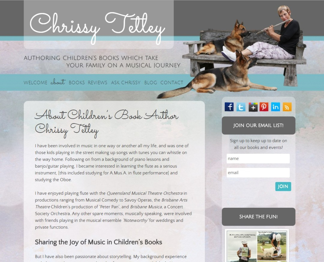 Custom Designed Wordpress Website for Chrissy Tetley