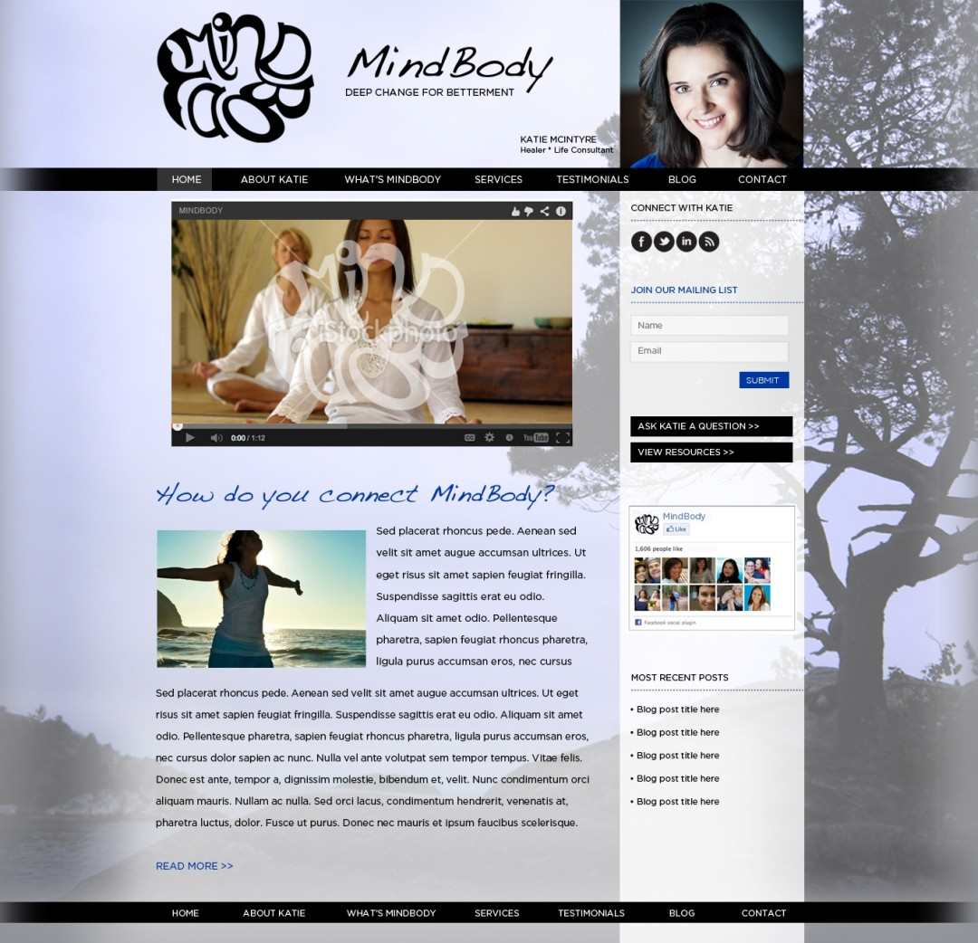 Custom Designed Wordpress Website for Kate Macintyre