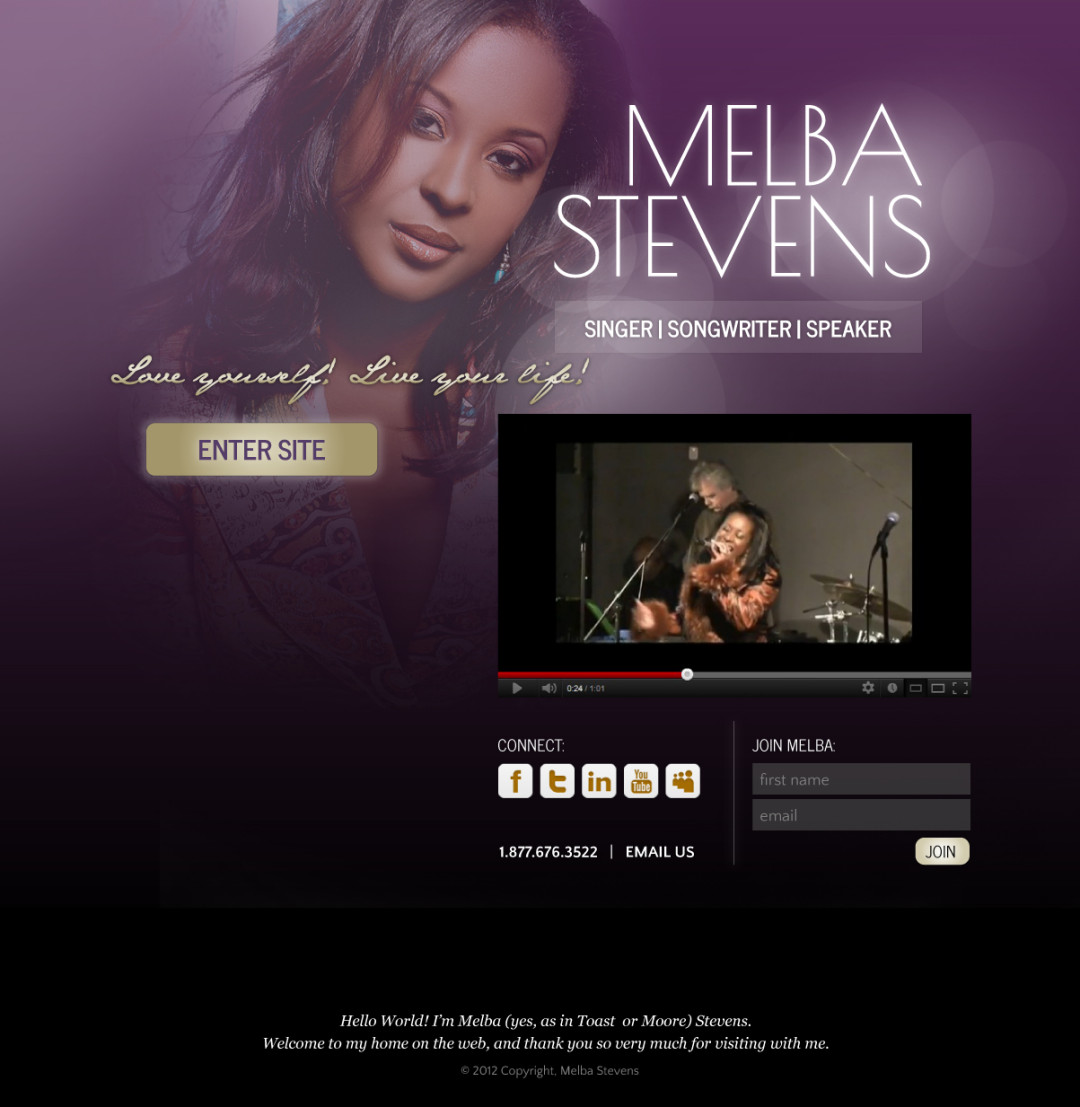 Custom Designed Wordpress Website for Melba Stevens