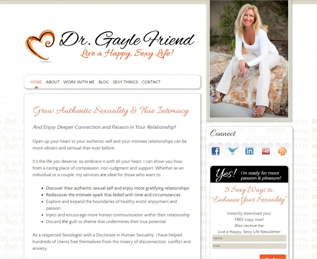Custom Designed Wordpress Website for Dr. Gayle Friend