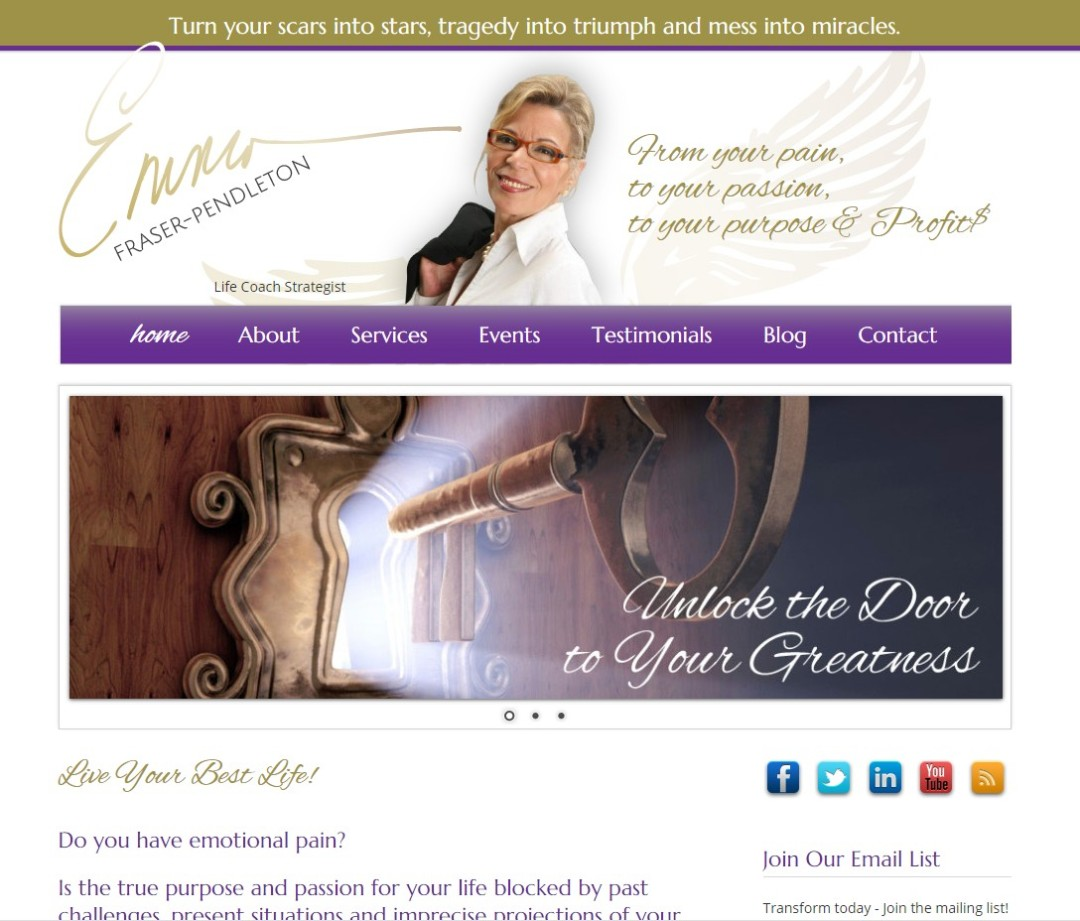 Custom Designed Wordpress Websites for Emma Fraser-Pendleton