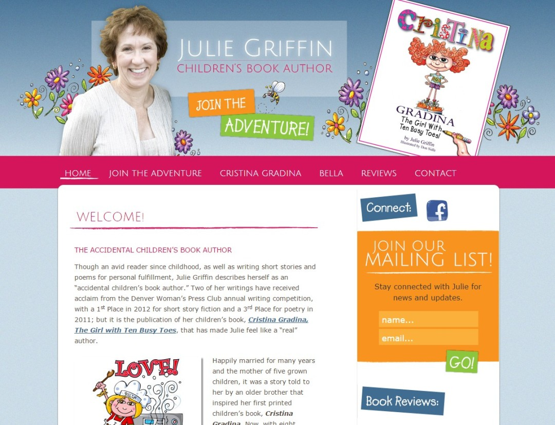 Custom Designed Wordpress Website for Julie Griffin
