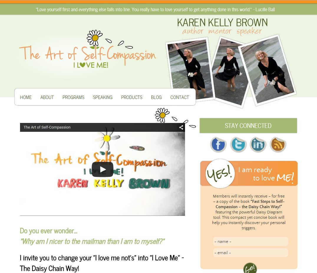 Custom Designed Wordpress Website for Karen Kelly Brown