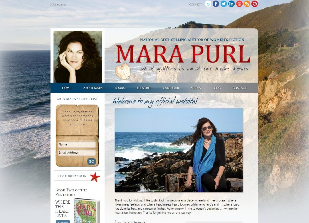 Custom Designed Wordpress Website for Mara Purl