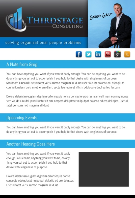 Email Marketing Newsletter of Greg Gast