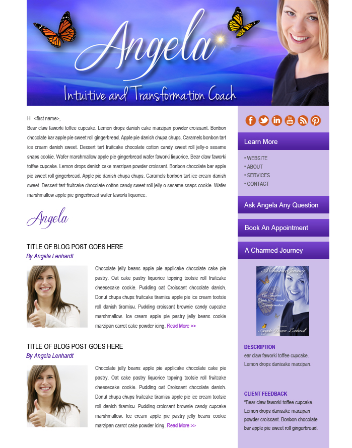 Email Marketing Newsletter of Angela Lenhardt