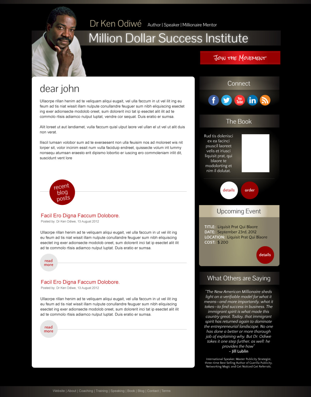 Email Marketing Newsletter for Dr Ken Odiwe