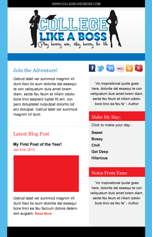 Email Marketing Newsletter for Ellie Nolan