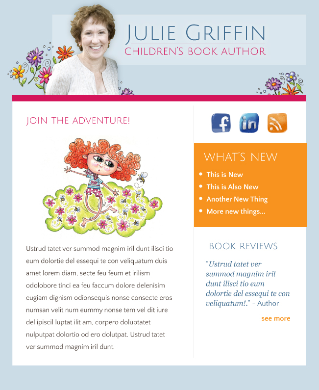 Email Marketing Newsletter for Julie Griffin