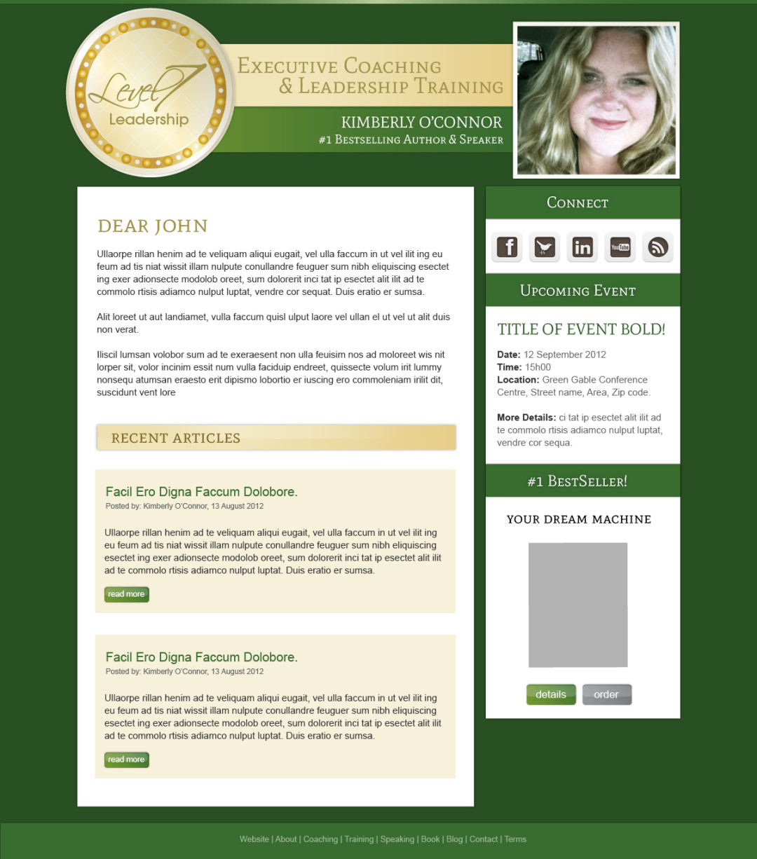 Email Marketing Newsletter for Kimberly O'Connor
