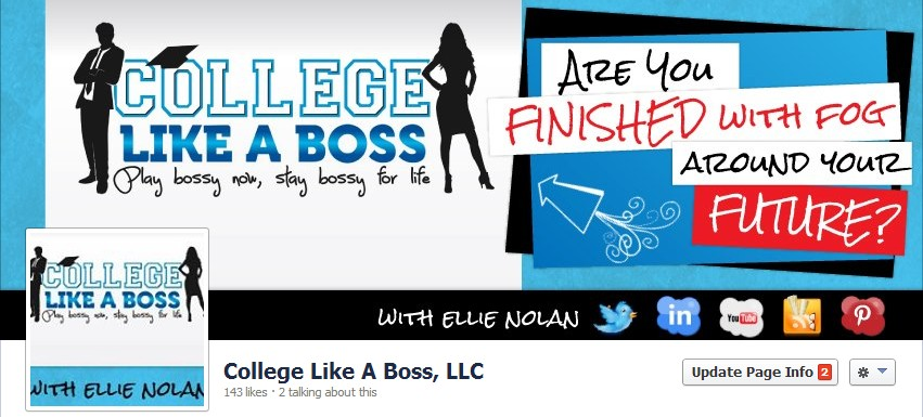 Facebook Cover Design for College Like a Boss