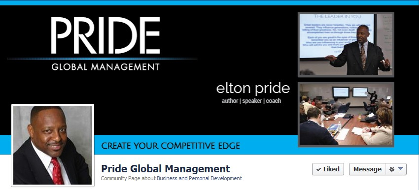 Facebook Cover Design for Elton Pride