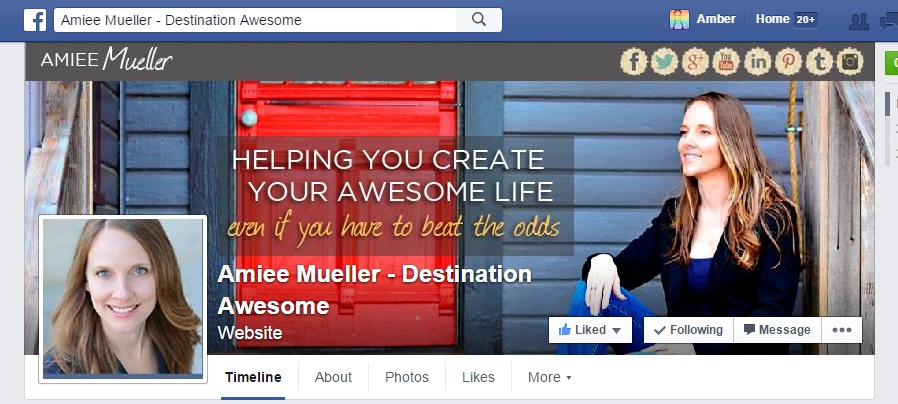 Facebook Cover Design for Amiee Mueller