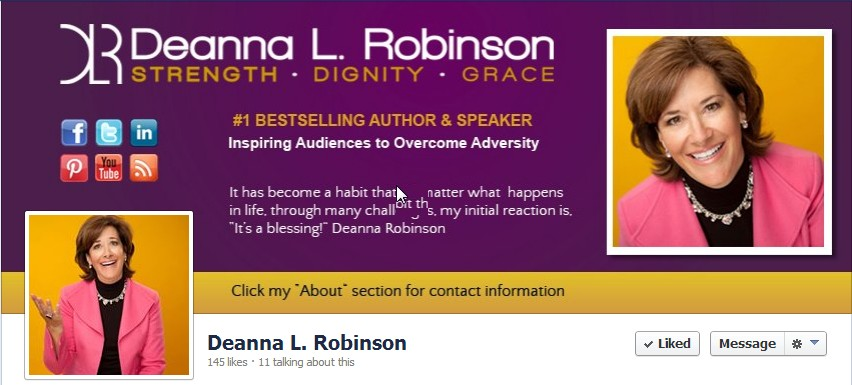 Facebook Cover Design for Deanna Robinson