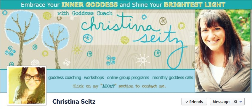 Facebook Cover Design for Christina Seitz