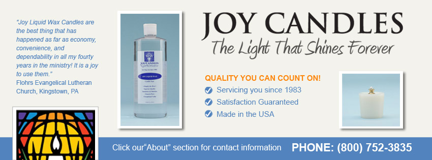 Facebook Cover Design for Joy Candles