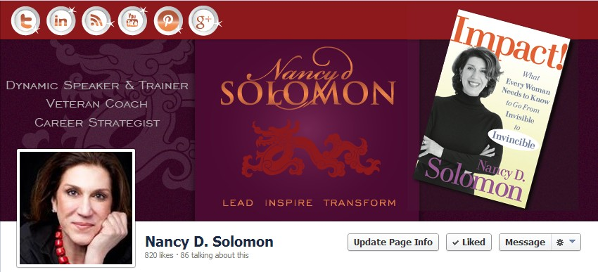 Facebook Cover Design for Nancy Solomon