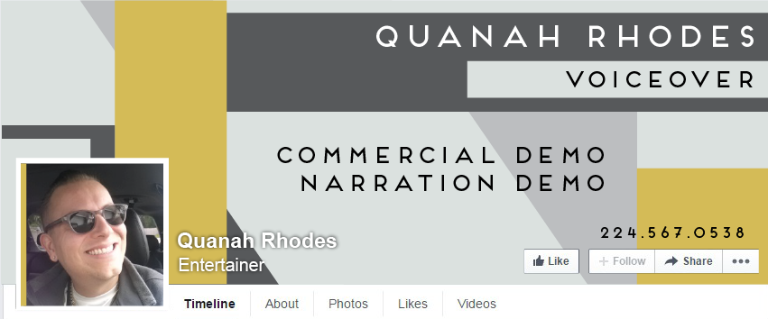 Facebook Cover Design for Quanah Rhodes