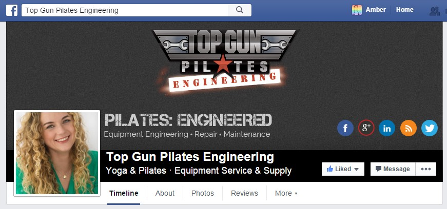 Facebook Cover Design for Top Gun Pilates Engineering