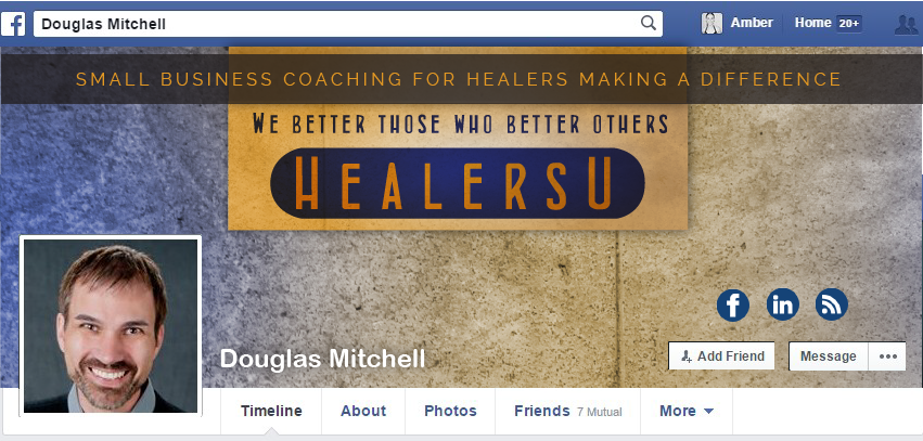 Facebook Cover Design for Douglas Mitchell