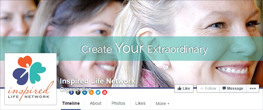 Facebook Cover Design for Inspired Life Network