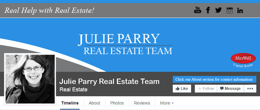 Facebook Cover Design for Julie Parry