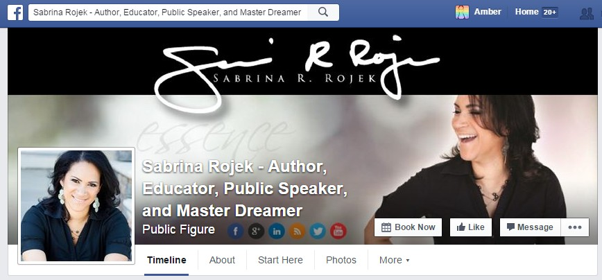 Facebook Cover Design for Sabrina Rojek