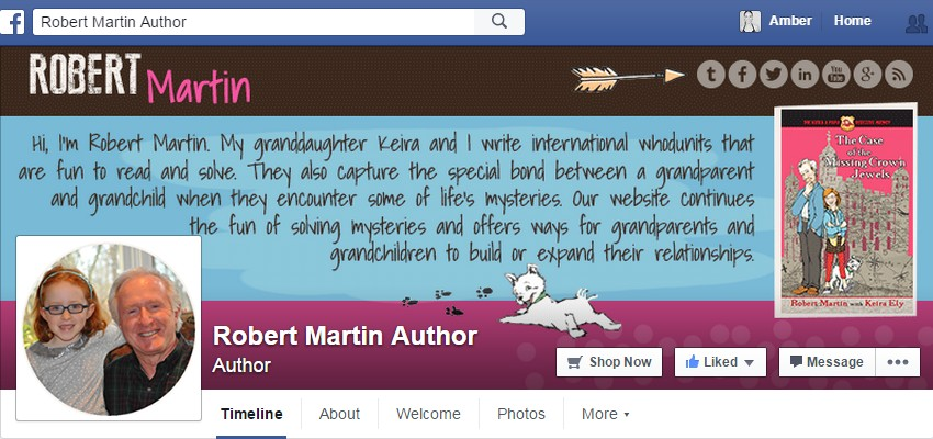 Facebook Cover Design for Robert Martin
