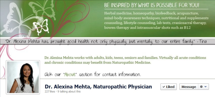 Facebook Cover Design for Alexina Mehta