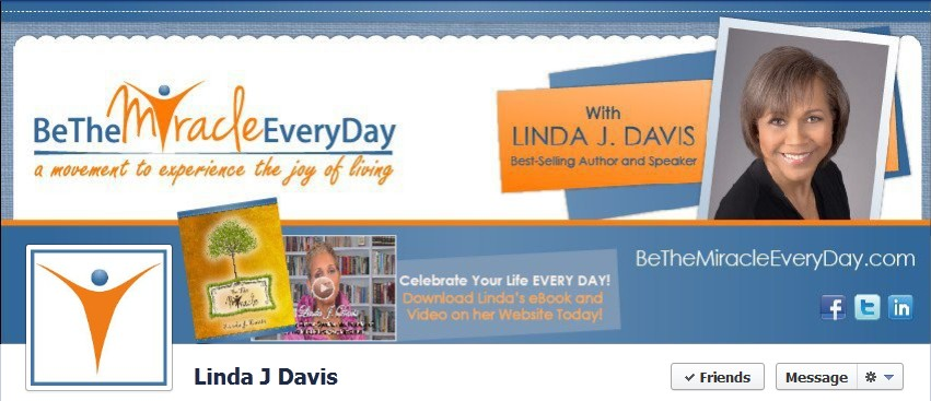 Facebook Cover Design for Linda J. Davis