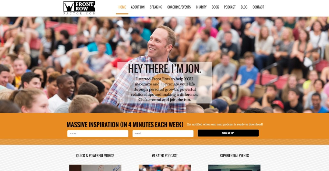 Pre-Made Theme Wordpress Website for Jon Vroman