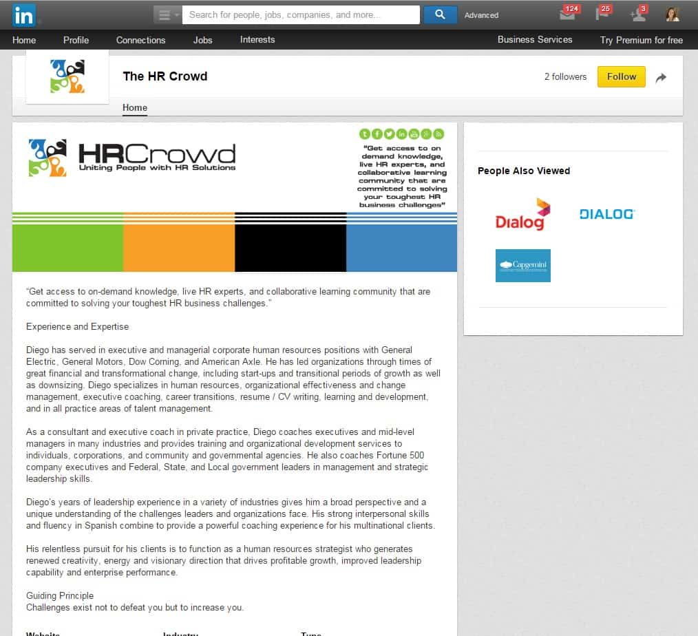 LinkedIn Cover Design for The HR Crowd